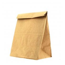 Papírové Sáčky bez Plochým Kraft Hnědý 15+9x28cm (1000 Kousky)