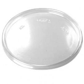 Ploché Plastové Víčko Průhledný Ø11cm (100 Kousky)