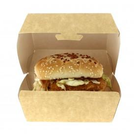 Krabička Kraft na Hamburger 12x12x7 cm (25 Kousky)