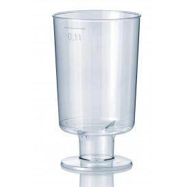 Plastové Sklenice s Černou 100 ml (15 Kousky)