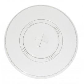 Ploché Víčko s Křížovým Kelímek PET 420ml Ø9,3cm (100 Kousky)
