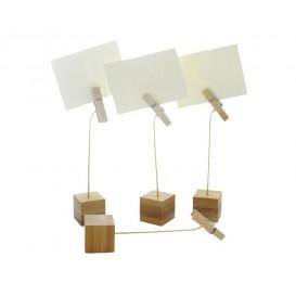 Bambusové Klipy na Karty 130mm (12 Kousky)