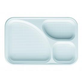 Podnos Plastový PS Bílá 3 Vrstvami 315x210mm (100 Kousky)