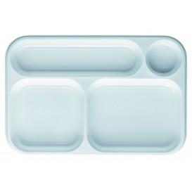 Podnos Plastový PS Bílá 4 Vrstvami 360x240mm (100 Kousky)