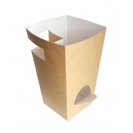 Krabička Karton na Kremrole s Čokoláda Kraft 78x78x179mm (25 Kousky)