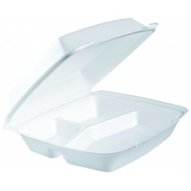 Menu Box Foam 3 Vrstvy Bílý 240x235mm (200 Kousky)