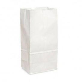 Papírové Sáčky bez Plochým Kraft Bílá 12+8x24cm (25 Kousky)
