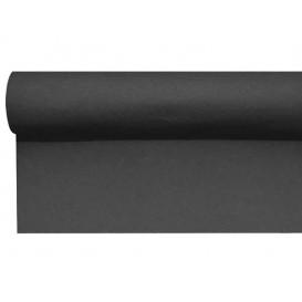Středový Pás na Stůl Airlaid Černá 0,4x48m Předřezaný 1,2m (6 Kousky)