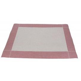 Papírové Prostírání 30x40cm se Strukturovaným Povrchem Bordeaux 50g (500 Kousky)