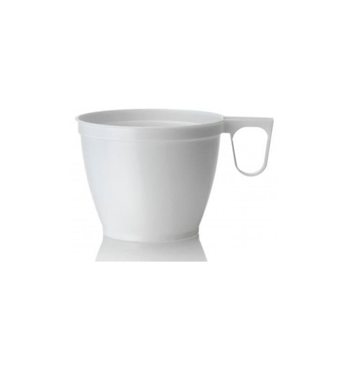 Plastové Šálek Bílá 180ml (50 Kousky)