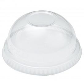 Plastové Víčko na Kelímek Vypouklé bez Otvoru PET Krystal Ø9,8cm (100 Kousky)