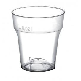 Plastová Odměrka Měsíc Odlivka Průhledný PS 20 ml (50 Kousky)
