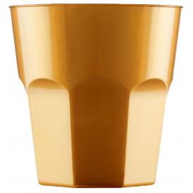 Plastové Kelímek na Koktejl Zlato PS Ø73mm 220ml (50 Kousky)