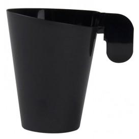 Plastové Šálek Designové Černá 155ml (12 Kousky)