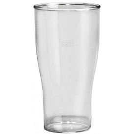 Kelímek Opakovaně Použitelné SAN Pivo Průhledný 350ml (100 Kousky)