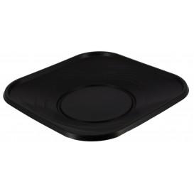 """Plastové Talíř PP """" X-Table """" Čtvercový Černá 180mm (120 Kousky)"""