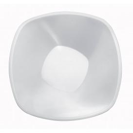 """Plastové Misky PP """"Square"""" Bílý 1250ml Ø21cml (60 Kousky)"""