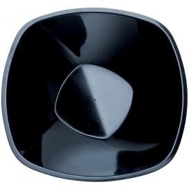 """Plastové Misky PP Černá """"Square"""" 3000ml Ø27,7cm (30 Kousky)"""