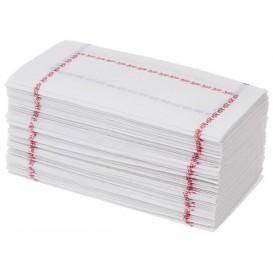 Papírové Ubrousky 14x14 Zigzag Červená a Modrý (250 Kousky)