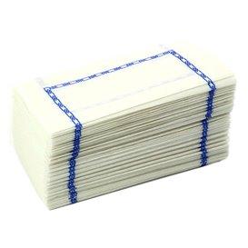 """Papírové Ubrousky Zigzag Bílý Dekorativní """"Okraj"""" 14x14cm (300 Kousky)"""