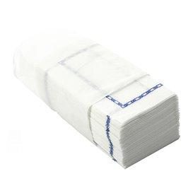 """Papírové Ubrousky Zigzag Bílý Dekorativní """"Okraj"""" 14x14cm (30000 Kousky)"""