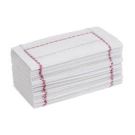 Papírové Ubrousky 14x14 Zigzag Modrý (250 Kousky)