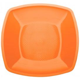 Plastové Talíř Plochá Oranžový Square PP 230mm (25 Kousky)