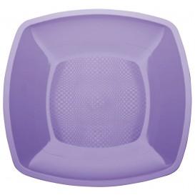 Plastové Talíř Plochá Šeřík Square PP 230mm (25 Kousky)