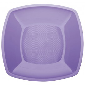 Plastové Talíř Plochá Šeřík Square PP 230mm (300 Kousky)
