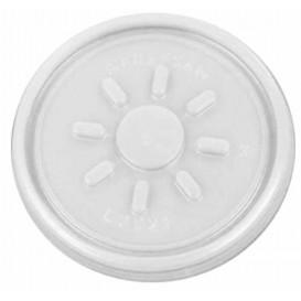 Plastové Víčko PS Čirý Hladká Foam Ø7,4cm (100 Kousky)