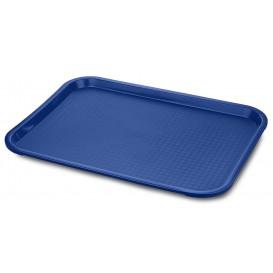 Podnos Plastový Fast Food Modrý 30,4x41,4cm (24 Kousky)