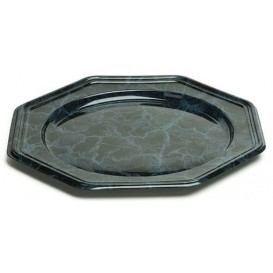 Plastový Podnos PET Osmiúhelníkový Mramor 30 cm (5 Kousky)