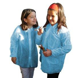 Šaty pro Děti Modrý z Netkané Textilie PP na Suchý Zip bez Kapsy (50 Kousky)
