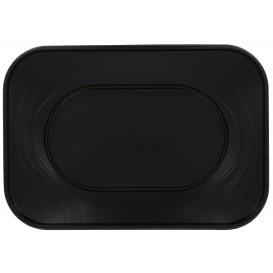 """Podnos Plastový PP """" X-Table """" Černá 330x230mm (2 Kousky)"""