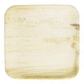 Talíř Čtvercový z Palmových Listů 15x15cm (25 Kousky)