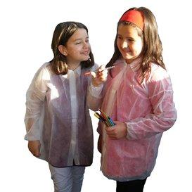 Šaty pro Děti z Netkané Textilie PP 35gr na Suchý Zip bez Kapsy (50 Kousky)