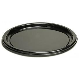 Plastové Talíř Kulatý Černá 18 cm (25 Kousky)