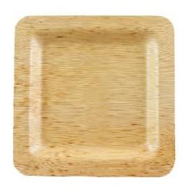 Talíř Čtvercový Bambusové 12x12x1cm (100 Kousky)