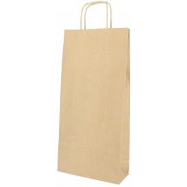 Papírové Tašky Kraft na Lahve s Plochým 18+8x39cm (50 Kousky)