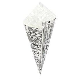 Papírové Kornouty Nepromastitelný Noviny 240mm 100g (250 Kousky)