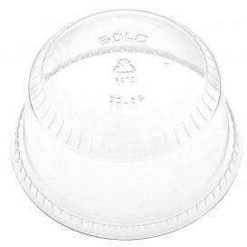 Plastové Víčko na Kelímek Vypouklé bez Otvoru PET Krystal Ø9,2 cm (50 Kousky)