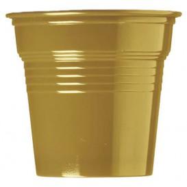 Kelímek Plastové PS Zlato 80ml Ø5,7cm (750 Kousky)