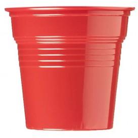 Kelímek Plastové PS Červené 80ml Ø5,7cm (50 Kousky)