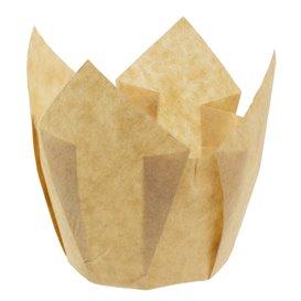 """Cukrářské Papírové Košíčky """" Muffin """" Tulipán Ø50x42/72 mm Nature (135 Kousky)"""