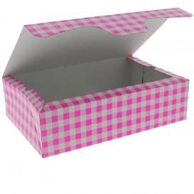 Krabička pro Cukrárny Karton 17,5x11,5x4,7cm 250g Růžová (20 Kousky)