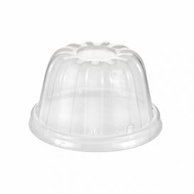 Plastové Víčko Vysoký PS Průhledný Ø8,9cm (50 Kousky)