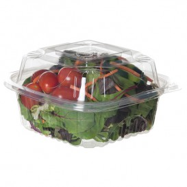 Salátová Mísa s Víčkem PLA 15,0x15,0x7,5cm (80 Kousky)