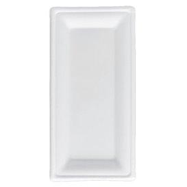 Podnos z Cukrové Třtiny Bagasové Bílý 25,5x12,7 cm (500 Kousky)
