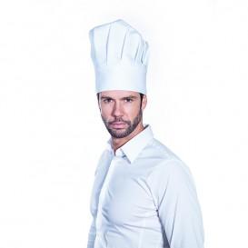Kuchařská Čepice Chef Bavlněná Bílý (25 Kousky)