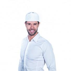 Kuchařská Čepice Tylem Bavlněná Bílý (25 Kousky)